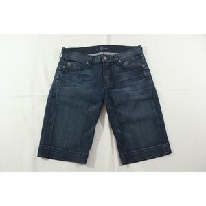 7 For All Mankind Blue Jean Shorts Size 28